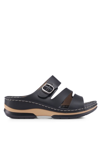 Louis Cuppers 黑色 Casual Sandals B1CCASHBF02557GS_1