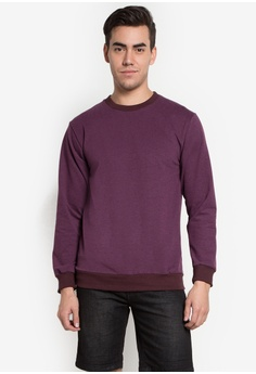 101 New York purple Sweatshirt with Tape Detail and Ribbed Hem 10380AA0K9D7PH_1