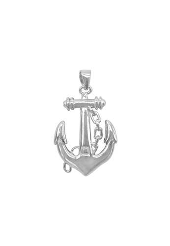 Silverworks silver Polished Anchor with Pointed End Charm 5015DAC4ECD803GS_1