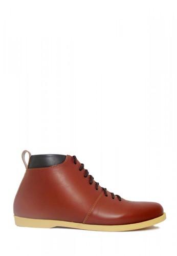 D-Island brown D-Island Shoes Bizarre Casual Leather Soft Brown 69E4ESHA92B3A3GS_1