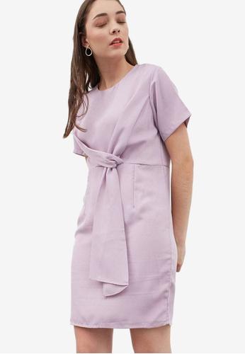 Berrybenka purple Houstyn Twist Dress 877D2AA108B80EGS_1