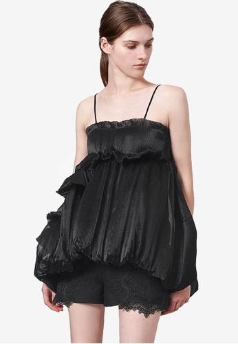 Saturday Club 黑色 Limited Edition Couture Puff上衣 0B58AAA607ADB4GS_1