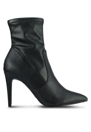Dorothy Perkins black Ally Sock Boots DO816SH0S2KKMY_1