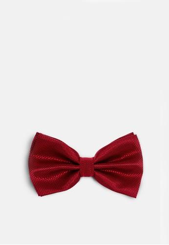 格紋晚宴領結-05183-深紅, 飾品配件, esprit品牌介绍領結