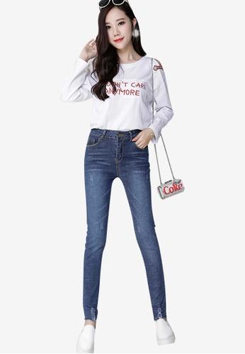 Lara blue Women's Denim Jeans with Ripped Details 6DC97AAEB4EE20GS_1