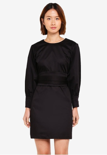 Haute Kelly black Chun Hei Long Sleeve Dress 52DE8AA8E8B59BGS_1