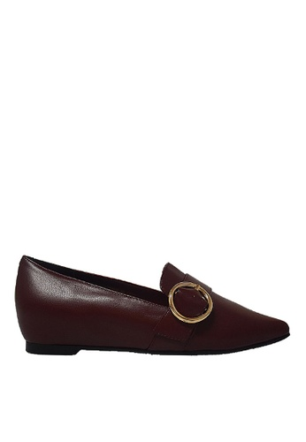 Obermain red Obermain Janet Sophie - Loafer In Maroon B7A51SH276E2FCGS_1