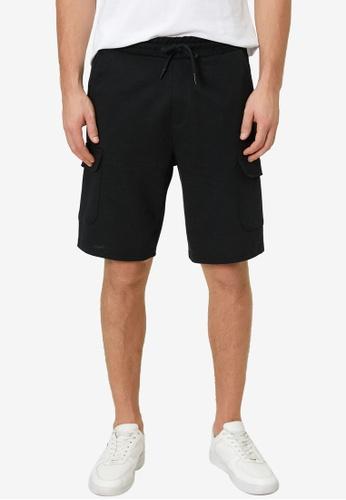 KOTON black Casual Cargo Shorts 8665DAA054B011GS_1