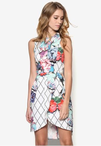 Olsen 削背印花洋裝, 服飾zalora 心得 ptt, 短洋裝