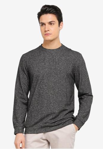 ZALORA black Textured Knit Sweatshirt 61C31AA62F87B3GS_1
