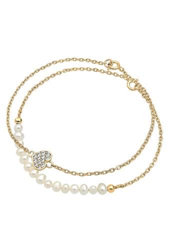 Elli Germany white Perhiasan Wanita Perak Asli - Silver Gelang Set Crystal Gold Plated 04B27ACE81C7CCGS_1