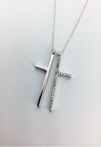 My Flash Trash silver Split Cross Necklace 880A6AC2CD5920GS_1