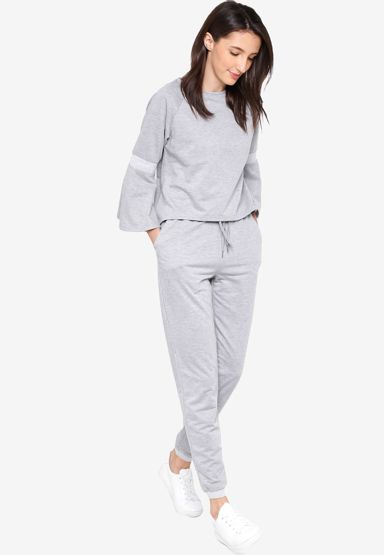 Joggers Rib Zalia Heather Cuff Grey EqFHZnF