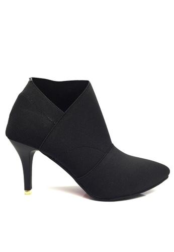Twenty Eight Shoes 黑色 橡筋高跟腳踝靴 VLA196 8D8AASHA780DA8GS_1