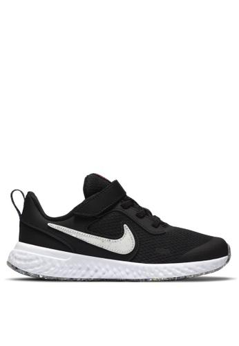 Nike black Revolution 5 SE Little Kids' Shoe FDB58KSF8B81DFGS_1