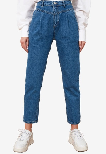 Trendyol blue High Waist Mom Jeans E28CEAA880B513GS_1