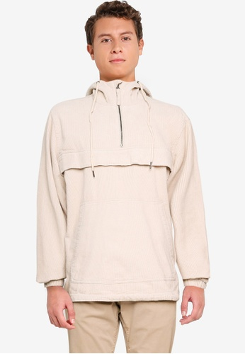 Cotton On beige Cord Anorak B37FEAAC681D7AGS_1