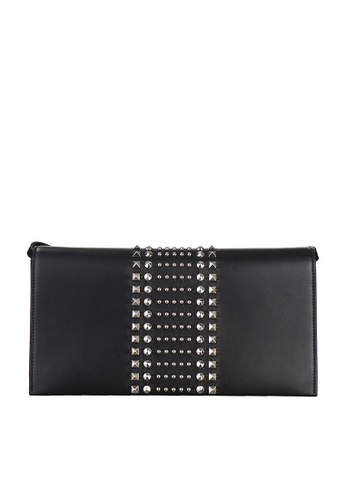 Gucci black PRE-LOVED GUCCI BROADWAY LEATHER CLUTCH WITH STUD DETAIL 6CC68ACD1654F0GS_1