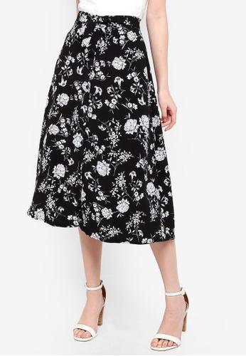 FORCAST black Cynthia Button Up Skirt 3742CAA16CB46FGS_1