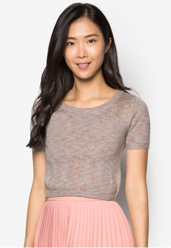 Georgie 混線短版zalora時尚購物網的koumi koumi上衣, 服飾, 上衣