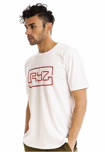 RYZ white RYZ Limited Edition CITY OF ROSES Signature Logo White Short Sleeve T-shirt. C1AC1AAAD434B1GS_1