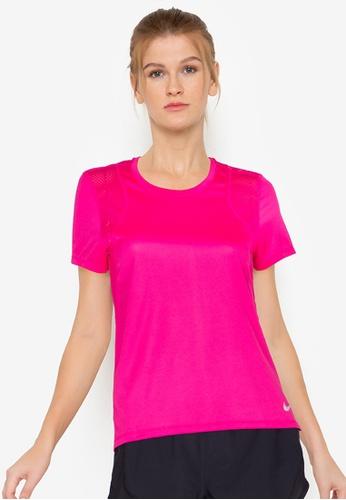 Nike pink Women's Short Sleeve Running Top 77D85AA3D64FA6GS_1