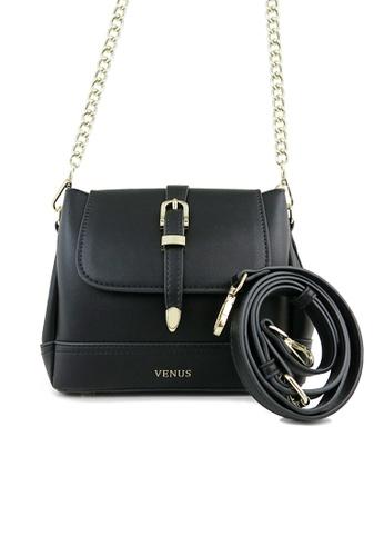 VENUS black Selma Black Crossbody Bag 6F645AC19A6F97GS_1