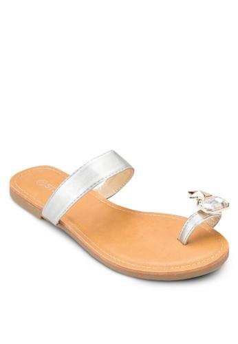 閃石夾趾涼鞋、 女鞋、 鞋St3p閃石夾趾涼鞋最新折價