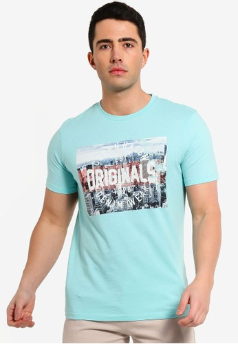 Jack & Jones blue Faste Originals Printed Tee 578F0AA214C83FGS_1