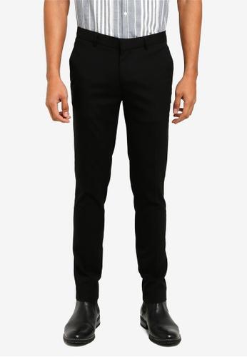 River Island black Super Skinny Smart Trousers 3A159AA07E582FGS_1