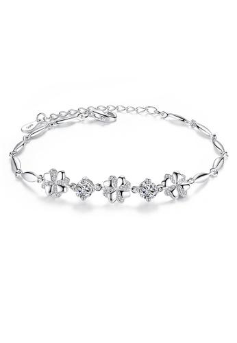 SUNRAIS silver Premium Silver S925 Silver Flower Bracelet 4883EACA71B08AGS_1