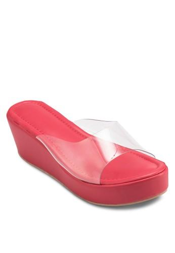 esprit女裝透明帶楔型跟涼鞋, 女鞋, 楔形涼鞋