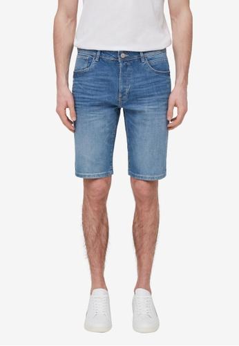 OVS blue Slim-Fit Denim Bermuda Shorts A1E44AA4EE4125GS_1