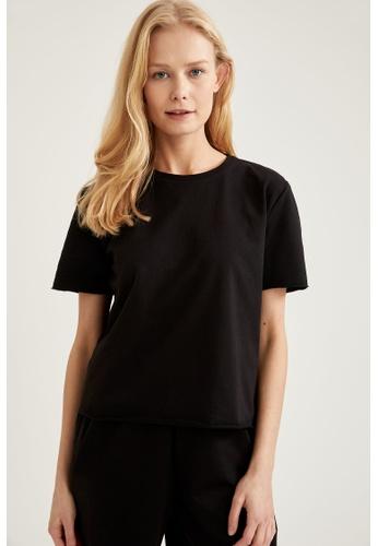 DeFacto black Woman Homewear Tops 09F1DAA9226C38GS_1