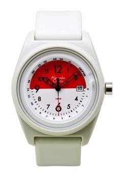 harga Alexandre Christie Jam Tangan Pria - Grey Red White - Silicon - 6431 MDRSSGRRE Zalora.co.id