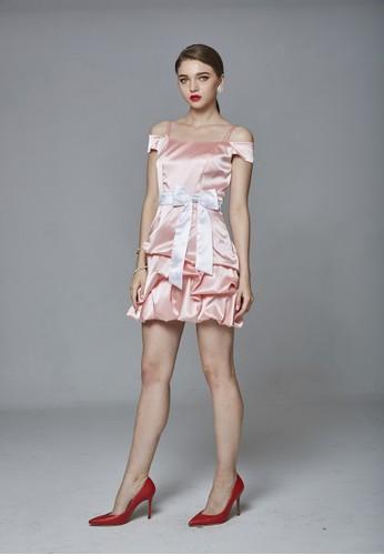 Party系甜美落肩氣球裙短禮服, 服飾,esprit台灣 派對洋裝