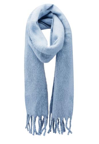 Buy Miss Selfridge Blue Oversized Brushed Scarf Zalora Hk
