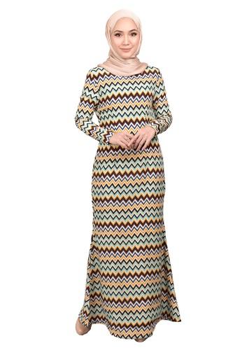 FATIMÉ multi Dress Wave (Colourful) 4C914AA21BCCA5GS_1