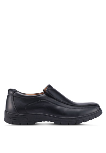 Louis Cuppers black Slip On Dress Shoes 0D777SH9BE840EGS_1