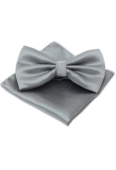 98653599a992 The Little Link Cufflinks grey Ayden Bowtie and Pocket Square Box Set  TH089AC19EYASG_1