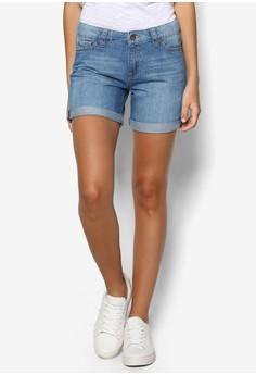 Woven Denim Shorts