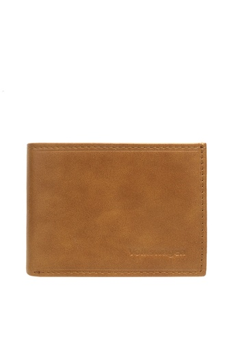 Volkswagen brown Embossed Mini Wallet E0B67AC6E529AAGS_1