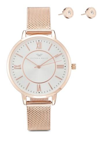 Victoria Walls Watches gold Elegant Milanese Mesh Strap Watch 38160ACDD3FC47GS_1