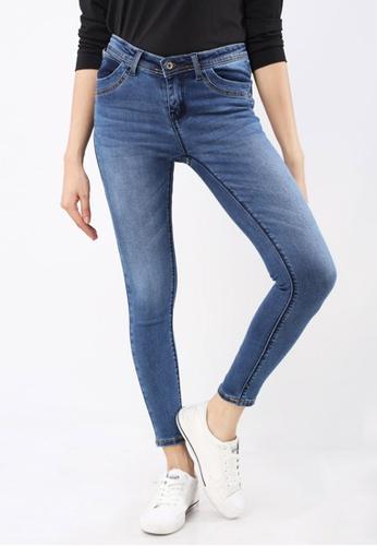 Hotkiss blue Denim Long Pants Slimfit Ladies FACADAA02D9A7FGS_1