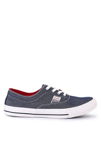 CARVIL blue and multi Carvil Sepatu Canvas Men Givro Denim Blue/Red 50002SHD58552BGS_1