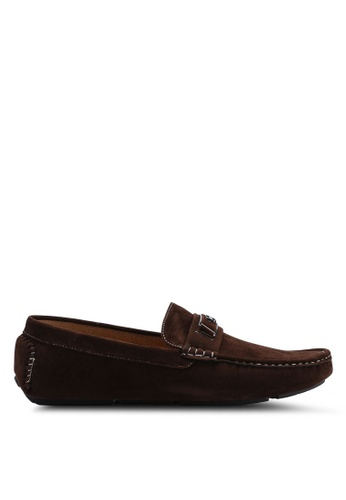 High Cultured brown Velvet Loafers-335 76FF9SH9EFDE7EGS_1