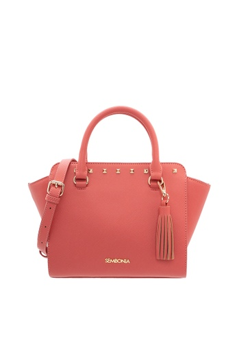 SEMBONIA pink SEMBONIA Synthetic Leather Tote Bag 0750EAC8766027GS_1