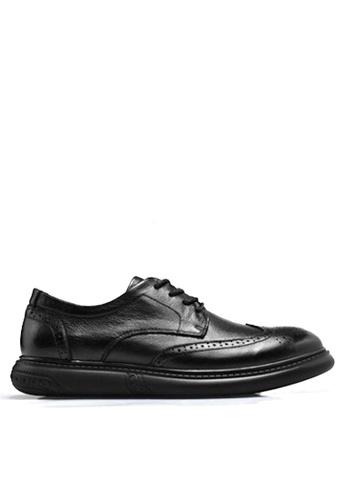 Twenty Eight Shoes 黑色 時尚拷花真皮鞋 VMF9009 98DBCSH3C12589GS_1
