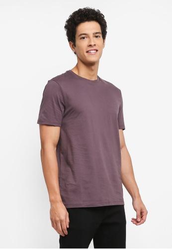 Topman purple Purple Slim T-Shirt 2DDBBAA7F45B8EGS_1