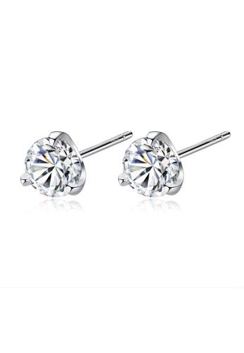 SUNRAIS silver High quality Silver S925 silver simple design earrings 2F5F8AC8EDD795GS_1